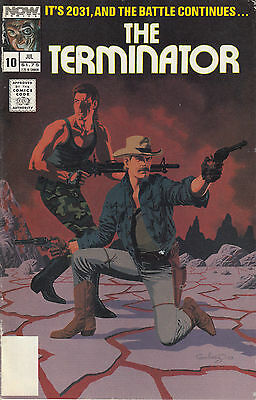 THE TERMINATOR 10...VF+...1989...Ron Fortier...Now Comics...VHTF Bargain!