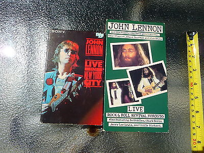 John Lennon & Yoko Ono - Live In New York City BETA Tape + Live in Toronto VHS