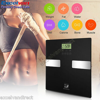 Digital Body Fat BMI Analyser Scales 180KG Weighing Scale Muscle for Weight Loss