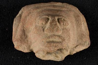 """NobleSpirit NO RESERVE {3970} Marvelous 2"""" Pre Columbian Carved Stone Head"""