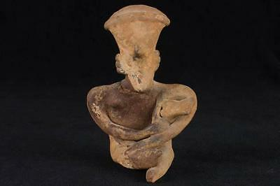"NobleSpirit NO RESERVE {3970} 4 1/2"" Pre Columbian Sitting Figure with Child"