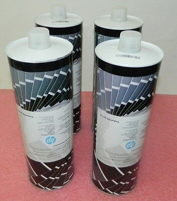 Lot of 4 New HP Indigo ElectroInk Q4133A Q5396-05874 Black for 7000/WS6000/W7200