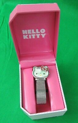 Hello Kitty Wrist Watch Original Box SANRIO SNL-3419 2011 REPRODUCTION 1976 EUC