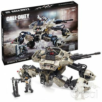 New Mega Bloks Call Of Duty Atlas Mobile Turret Building Set & Figures Official