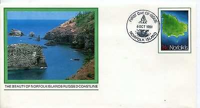 Norfolk Island 1981 Map PSE FDC