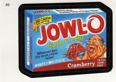 Wacky Packages 2010 Series 7 Ans7 Base Card #45 Jowl'o Cramberry