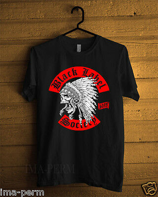 BLS BLACK LABEL SOCIETY Indian Chief Skull Black T-shirt for Man Size S-2XL