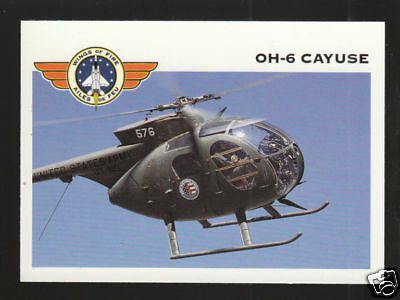 McDONNELL DOUGLAS OH-6 CAYUSE HELICOPTER Wings CARD
