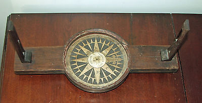 Early Wooden Surveyors Compass - S. Thaxter  & Sons,  Boston