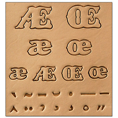 Tandy Leather 8155-00 ALPHABET ACCENT SET 3D Stamp Free US Shipping!