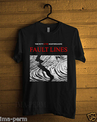 Tom Petty and the Heartbreakers FAULT LINES Black T-shirt for Man Size S-2XL