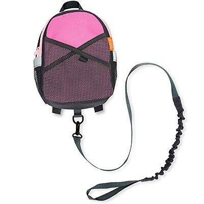 Kid Backpack Baby Walking Lost Safety Harness Pink/Gray Toddler Travel Bag