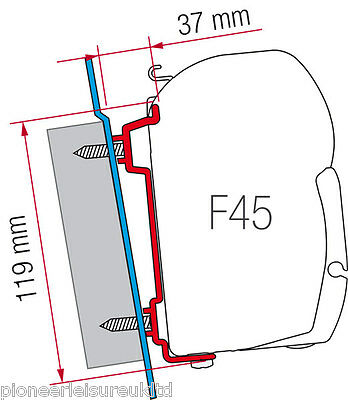 Fiamma Fitting Brackets Kit for F45 awnings to Ford Transit High Roof 98655-741