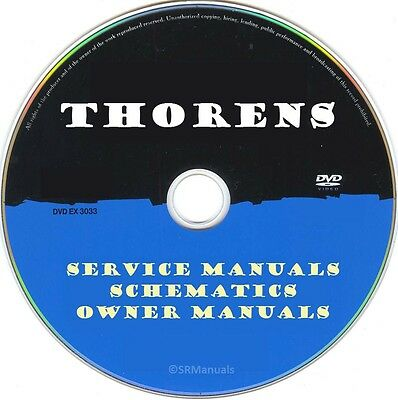 Thorens Service Manuals & Schematics- PDFs on DVD - Huge Collection