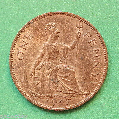 1947 - George VI - Penny - Uncirculated UNC - Full lustre lustre - SNo41920
