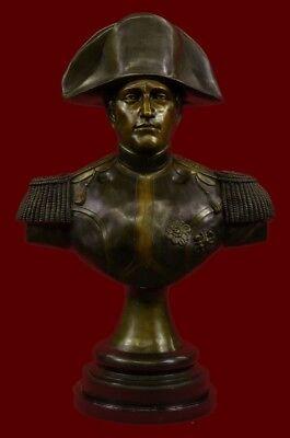 Genuine Bronze - Napoleon Bust on Marble Base Hand Made Sculpture 82 LBS Statue