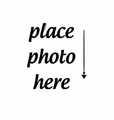 PERSONALIZED  CUSTOM MADE  RUBBER STAMPS UNMOUNTED 'place photo here'