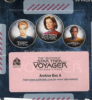 The Quotable Star Trek Voyager Archive Box A+B Complete Master Set+ P1,2,3,4
