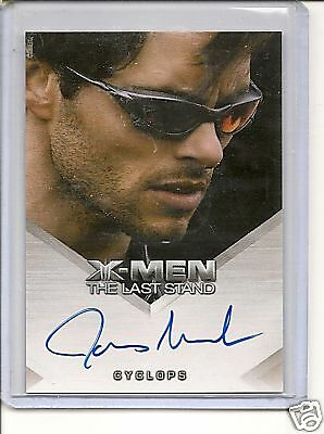 "X-Men ""The Last Stand"" James Marsden auto card"
