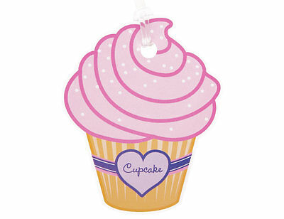 Bright Star Kids Cupcake Backpack Name Tag for School - Childrens Bag / Luggage