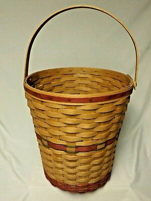 Longaberger 1991 Holiday Hostess Red Tree Trimming Basket A MUST SEE!
