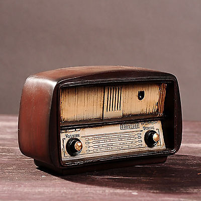New Resin Radio Model Vintage Style Creative Home Decoration Props Crafts Gifts