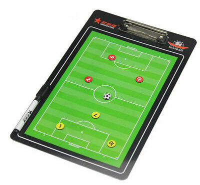 Two-sided Magnetic Soccer Football Coaching Board Dry Erase Clipboard Tactical