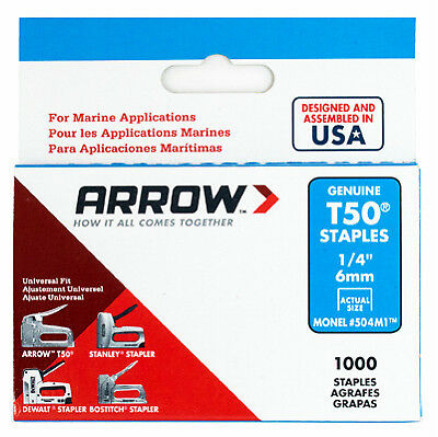 "Arrow Fastener 504M1 Model T50 Monel Staples-1/4"" MONEL STAPLE"