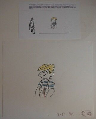 1970's-1980's DENNIS THE MENACE PRODUCTION DRAWING WITH COA