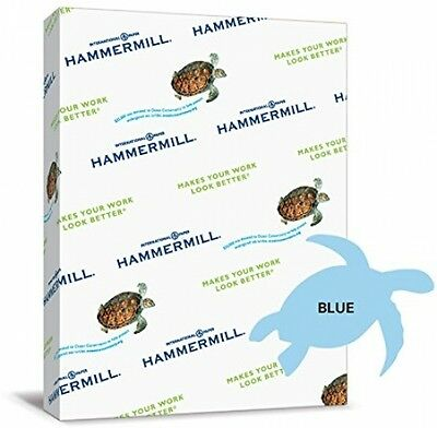 Hammermill Paper, Colors Blue, 24lb., 8.5x11, Letter, 500 Sheets / 1 Ream, Made