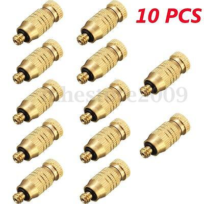 10Pcs Threaded Brass Fog Mist Nozzles Misting Fogging Spray Sprinkler Head
