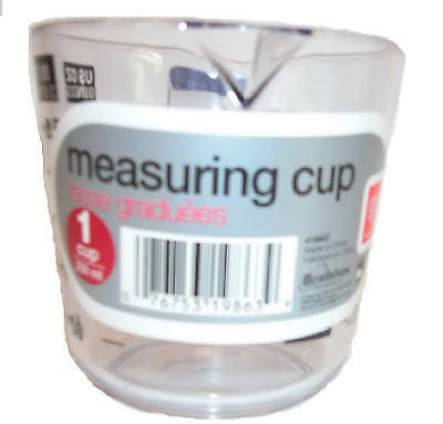 BRADSHAW INTERNATIONAL 1-Cup High-Impact Clear Plastic Measuring Cup