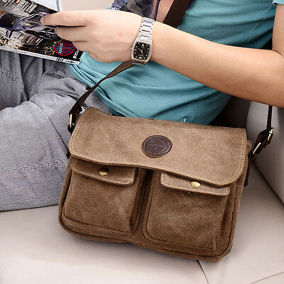 Men's Vintage Canvas Messenger Shoulder Bags Satchel Crossbody Sling School Bags