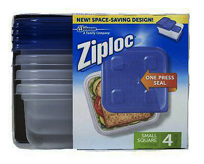 S C JOHNSON WAX - Food Storage Container, 3-Cup Square, 4-Ct.