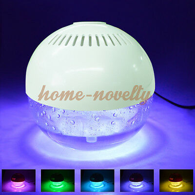 Color Glowing Air Purifier Diffuser Filter Humidifier Aromatherapy Water Globe