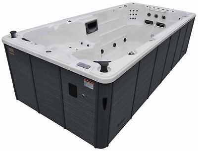 Hot Tub Luxury Swim Spa Comfortable Massage Jetted Seats Jacuzzi 6 Person Relax