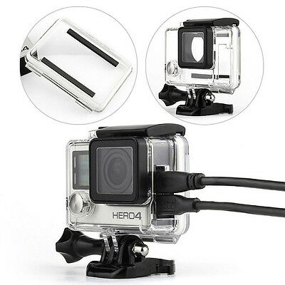 Side Open Skeleton Protective Housing Case Cover For GoPro Hero 4 HD Camera