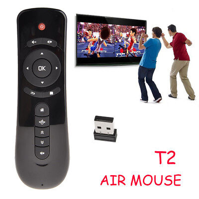 Mini Fly Air Mouse T2 2.4G Wireless Keyboard Remote Control 3D Motion Stick New