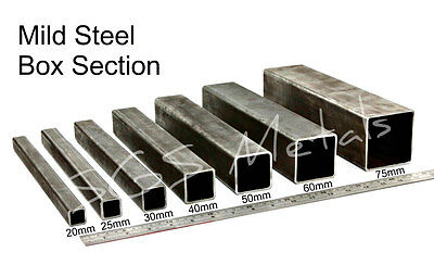 Mild Steel BOX SECTION Excellent range of sizes & Lengths available