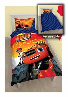 Blaze And The Monster Machines 'Zoom' Reversible Panel Single Bed Duvet Quilt Co