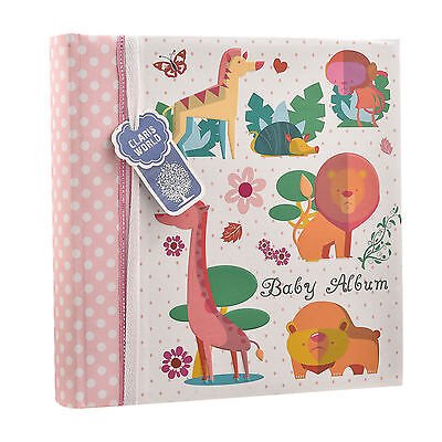 Baby Girls Pink Slip In Case Memo Photo Album 4 x 6'' For 200 Photos BA-1634