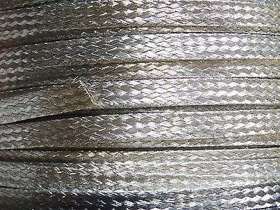 "15 Ft' Flat Braided braid Tinned Copper Wire 1/4"" Wide Ground Strap USA"