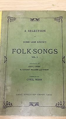A Selection Of Some Less Well Known Folk Songs: Volume 2: Music Score (G5)