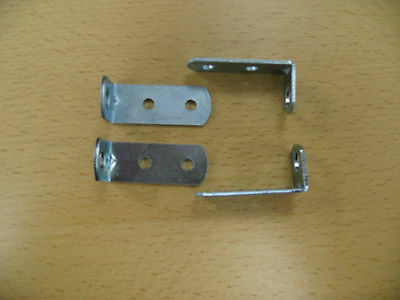L-Brackets Set of 4-Turn drop Side Visible Hardware into fixed Side-Conversion