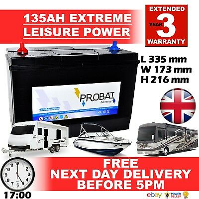 DEAL  4X 4 X12V 135AH 135 AH Leisure Battery DEEP CYCLE for Motorhome / Caravan