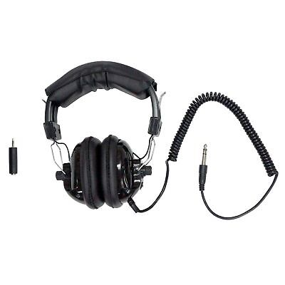 Fisher Lightweight Adjustable Stereo Headphones for Metal Detector 9720950000
