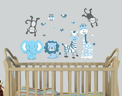 Expedition Animals Stickers, Boys Room decal, Nursery Wall Decor, Jungle Decal