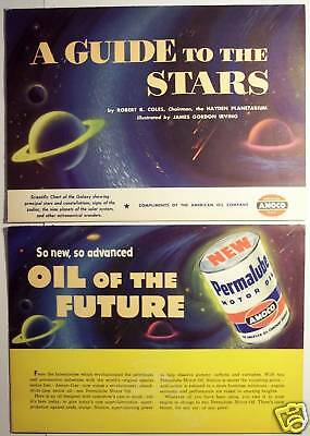 1954 Amoco Astronomy Constellations Stars Zodiac Guide American Gas Advertising
