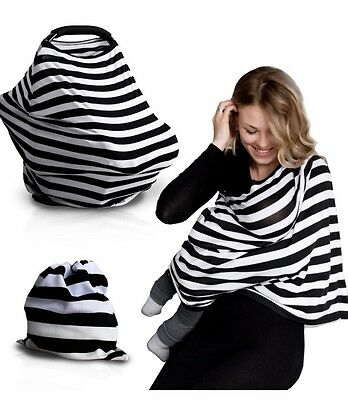 Baby Car Seat Cover Black And white Striped NEW $26