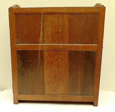 Antique Victorian wooden cupboard Old vintage cabinet with wall fittings